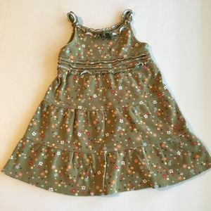 Gymboree Olive Green Floral Sun Dress Size 3